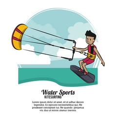 Water sports infographic vector