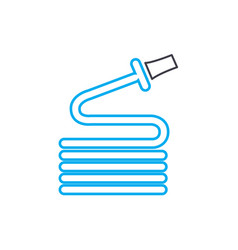 watering the garden linear icon concept watering vector image