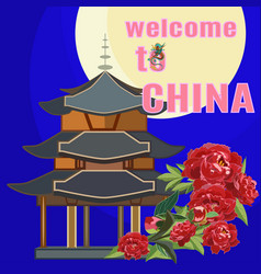 welcome to china flat vector image
