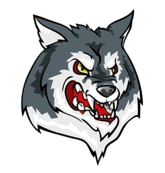 Wolf mascot team label design vector