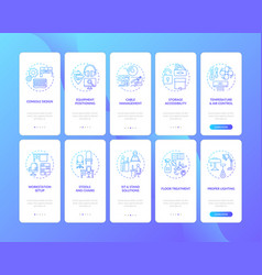 workplace safety onboarding mobile app page vector image