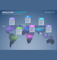world map infographics global country data vector image