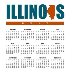 2017 Illinois calendar vector image vector image