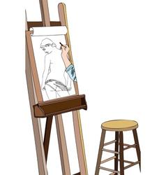 Art workshop Sketch of naked vector image vector image