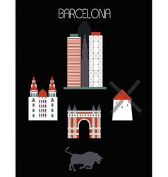 Barcelona city vector image vector image