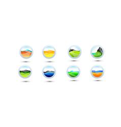 big set of minimal geometric multicolor shapes vector image