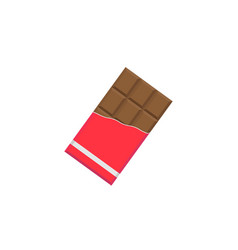 chocolate bar flat icon food drink elements vector image vector image