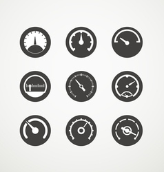 Different slyles of speedometers collection vector image vector image