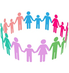 Family Diversity Social Community People vector image vector image