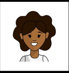 people happy face woman icon vector image vector image