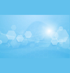abstract technology digital hexagons concept vector image vector image