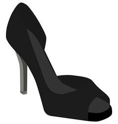 Black woman shoes vector image