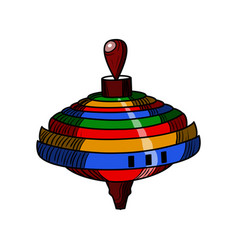 color sketch of a whirligig vector image