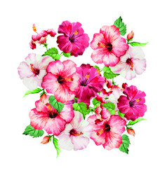 creation of clusters of flowers vector image