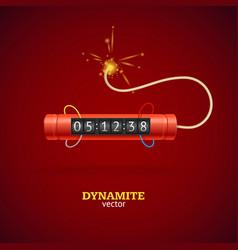 detonate dynamite bomb and timer clock vector image