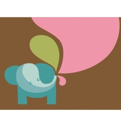 elephant with pastel colors vector image