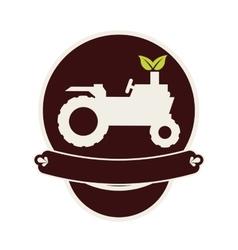 Farm truck emblem icon image vector