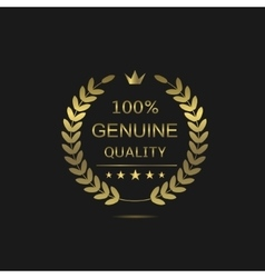 Genuine Quality wreath vector image