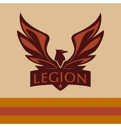 logo with a picture of an eagle Legion vector image