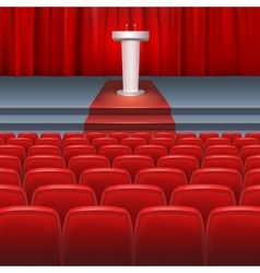 Stage with a red curtain vector image