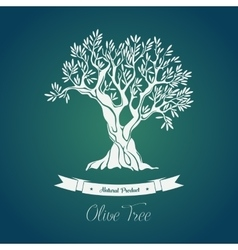 Bottle sticker with olive oil greece tree on it vector image vector image