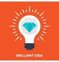 brilliant idea vector image
