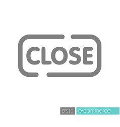 close sign icon vector image vector image