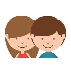 couple of children half body vector image vector image