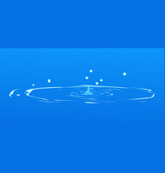 drops falling into water isolated on blue spring vector image