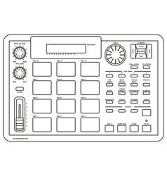 drum machine vector image