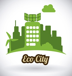 eco city design eps10 graphic vector image