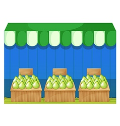 Fruit stands with pears vector image vector image
