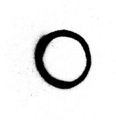 graffiti sprayed number 0 zero in black on white vector image