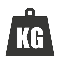 Kg weight classic metal vector