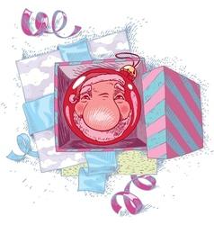 Reflecting Santa Claus vector image vector image