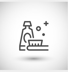 toothpaste line icon vector image vector image