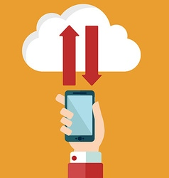 Cloud computing and communication technology vector image vector image