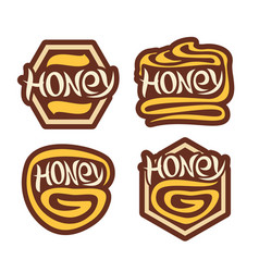 logo honey vector image