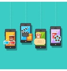 Online entertainment concept vector