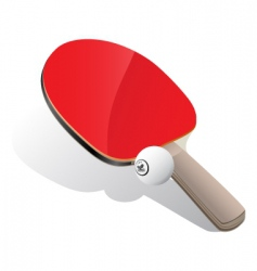 Ping-Pong paddle and ball vector image vector image