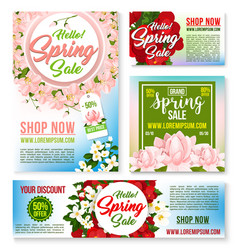 sale tags banners posters spring discount vector image vector image