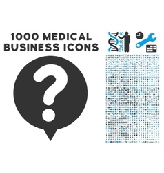 Status Balloon Icon with 1000 Medical Business vector image