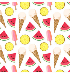 Summer seamless pattern vector