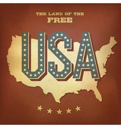 USA abstract retro poster design copy vector image vector image