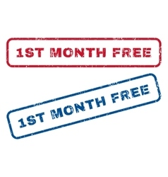1st Month Free Rubber Stamps vector
