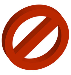 3d red empty forbidden vector image