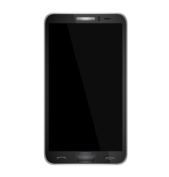a mobile phone black eps10 vector image