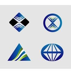 Abctract logo set vector