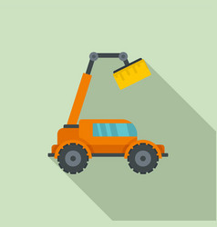 Agricultural lift machine icon flat style vector
