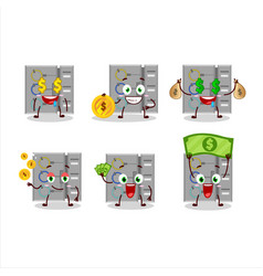 Among us task machine cartoon character with cute vector